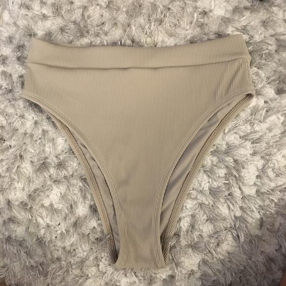 e66756f9cc317 aerie Swim   Ribbed High Waisted Bikini Bottom   Poshmark